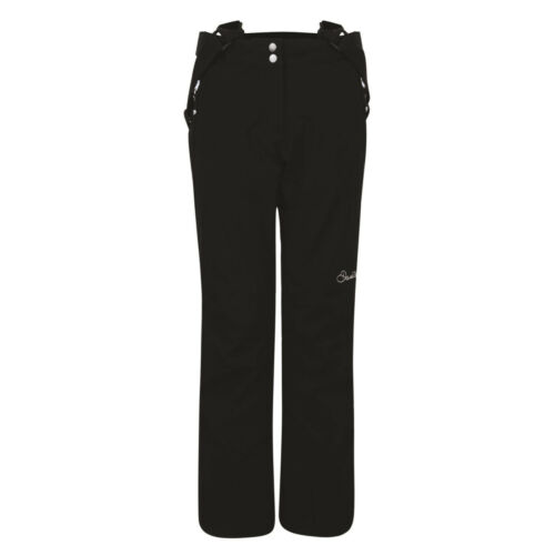 DARE2B Womens ATTRACT II BLACK Ski Pants Ladies Salopettes Size 22-30 SHORT LEG