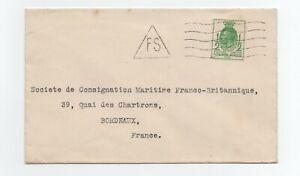 1929 Belle Lettre Angleterre Uk Rare Cachet Fs