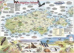 Map Of Australia Kangaroo Island.Kangaroo Island Map South Australia Westprint Map New Latest Ed