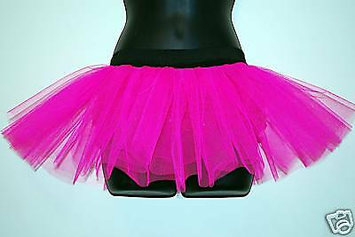 Sparsam New Race For Life Neon Pink Tutu Skirt Dance Hens Butlins Ohne RüCkgabe