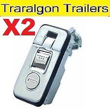 2x Chrome Compression Lock for Canopy Toolbox Camper Trailer Truck 4wd M29