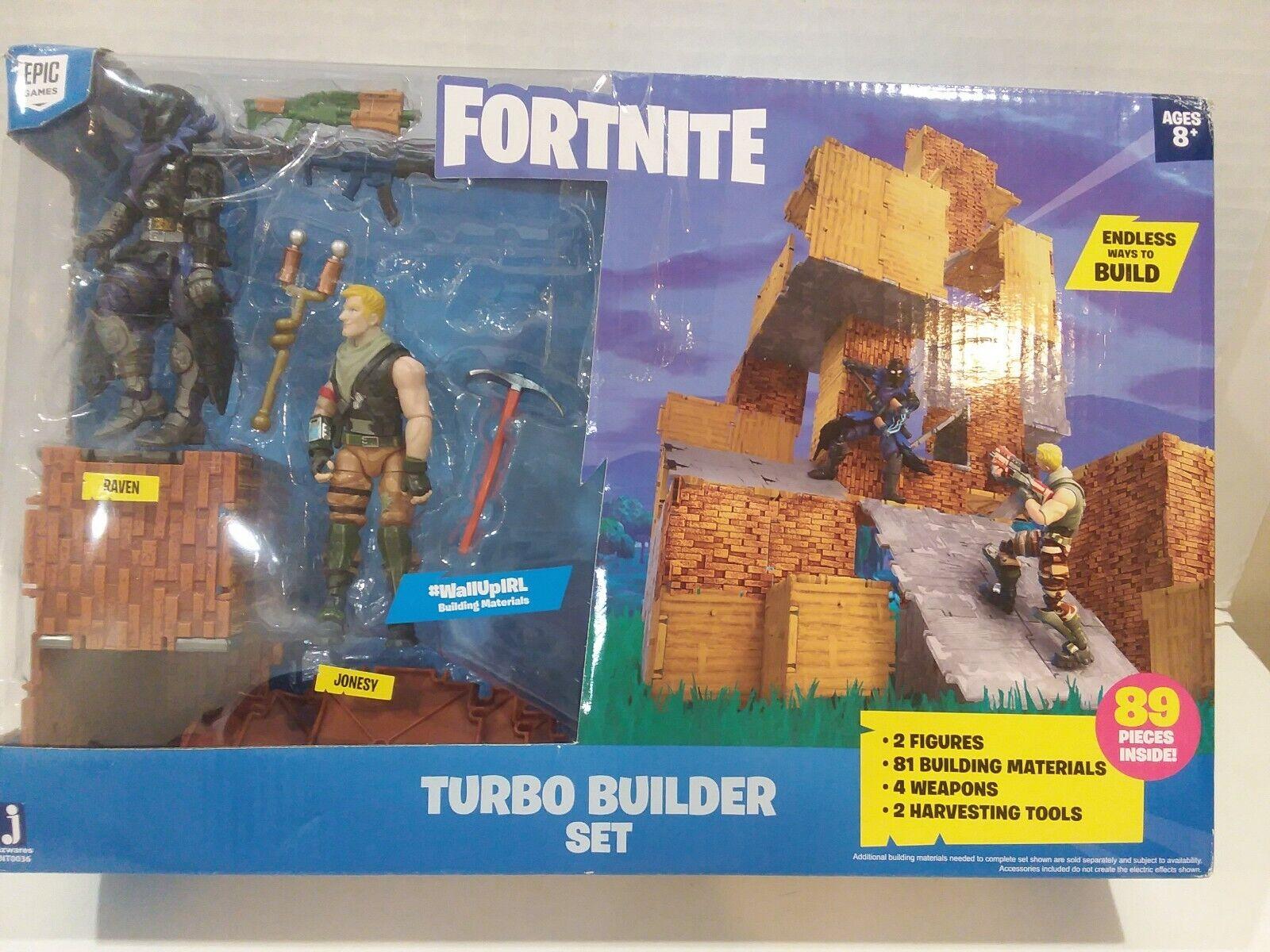 Fortnite Jonesy et Raven Turbo Builder Set 2 Figurines Ensemble 89 pièces