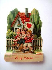 cards valentine Vintage mechanical