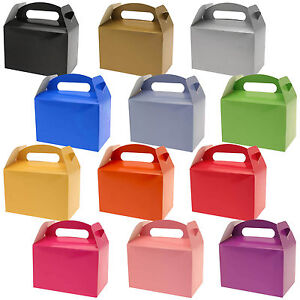 10-Wedding-Birthday-Colors-Children-039-s-Card-Gift-Loot-Treat-Lunch-Party-Boxes