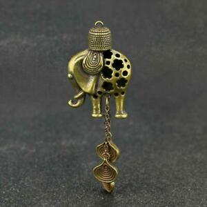 Chinese-Brass-Elephant-Wind-Chimes-Pendant-Pocket-Statue-Xmas-Gift-Toy-Good-Luck