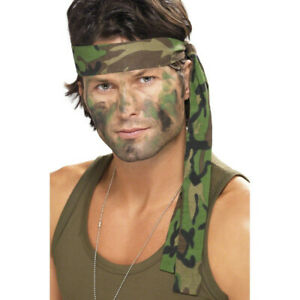 Armee Stirnband Camouflage Haarband Tarnfarbe Kopfband Tarnband Militär Soldaten