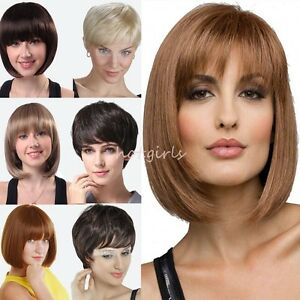 462a0b2f553991 Cheap Super Deal 30% Off Short Wig Synthetic Hair Full Wig Real ...
