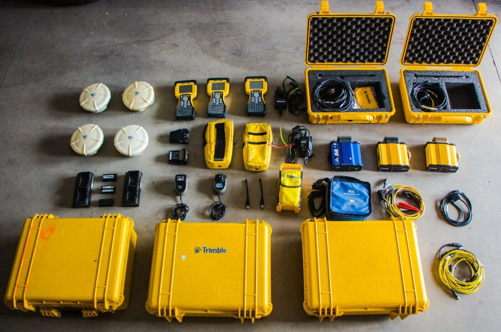 TRIMBLE R8 GPS System lot 4 Trimble R8 Model 1 5800 base 2 TSC2 data collectors