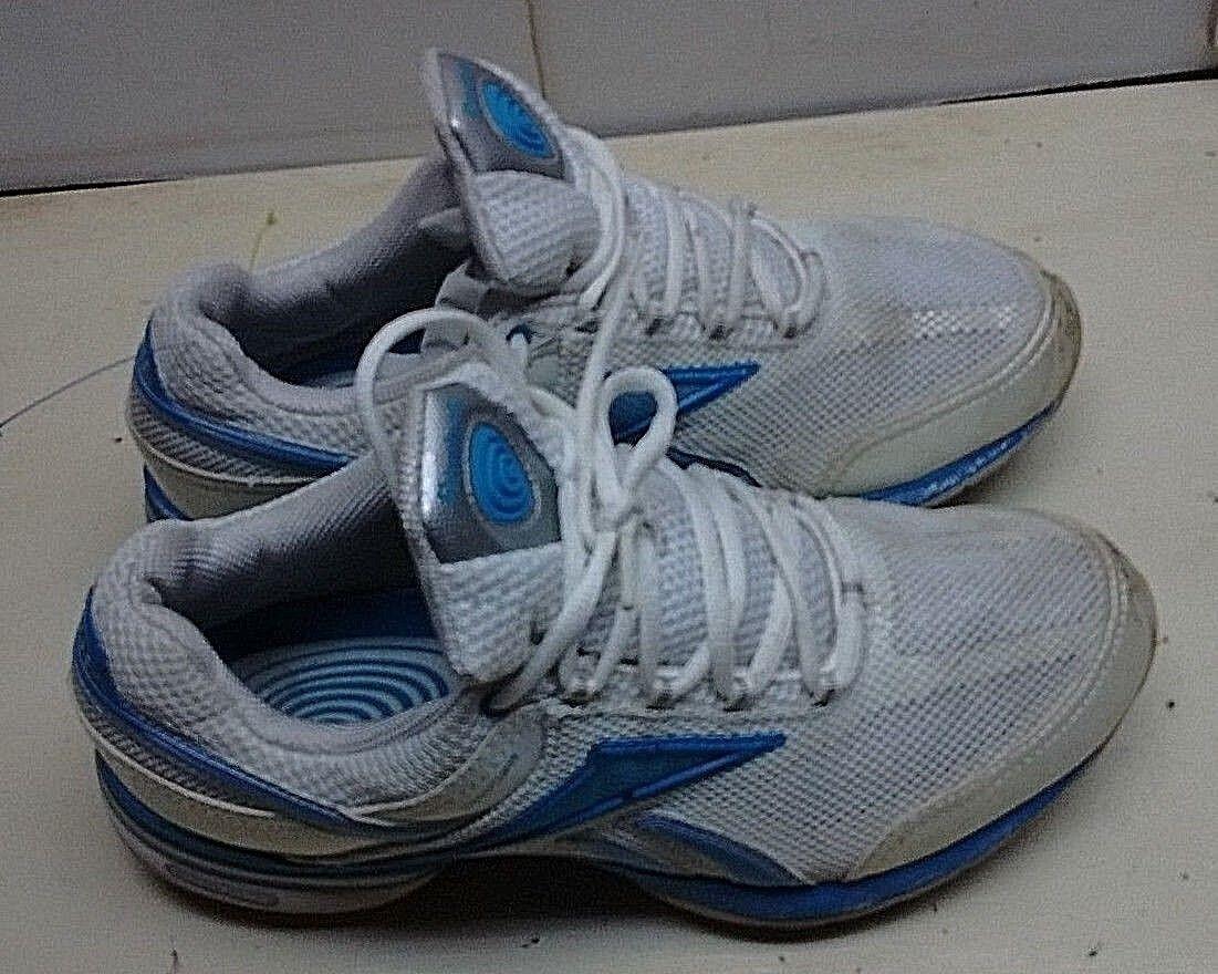 Reebok Easytone damen Weiß Blau Toning Training Walking Lace Up Turnschuhe schuhe 9M