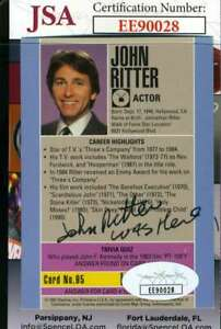 John-Ritter-Jsa-Coa-Hand-Signed-1991-Starline-Hollywood-Autograph