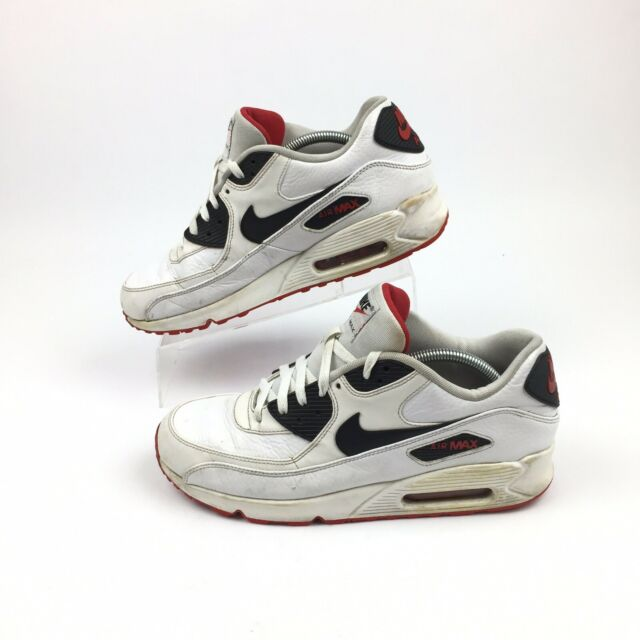 Nike Air Max 90 Ltr Shoe Size 7 652980 100 Whiteblack university Red Leather