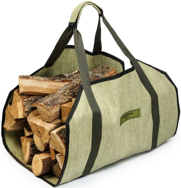 Sergisson Firewood Carrier Log Tote Bag Wood Carry Carrying Fireplace