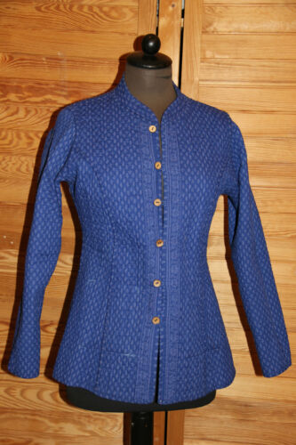 Cotone Mano Blazer S Donna azzurro Face Fatto Rosa Fernando Double Giacca Aq7SHxaw