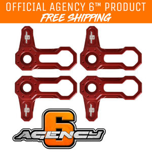 Agency 6 Winch Hook Pull Strap Heavy Duty 1 INCH Wide RED Made in The U.S.A.