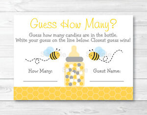 image relating to Guess How Many in the Jar Printable known as Information and facts pertaining to Bumble Bee Printable Boy or girl Shower \