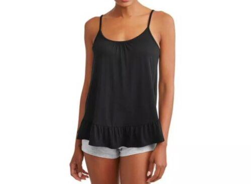 Women's Secret Treasures PJ SleeveLess Top Black Semi Loose Size Medium New