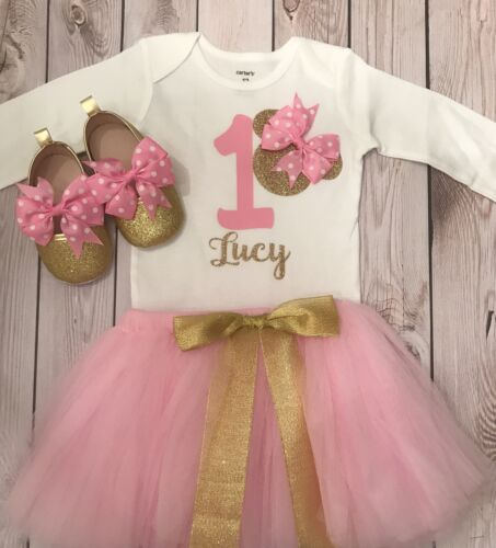 Minnie Mouse birthday out minnie mouse shoes First birthday outfit girl light