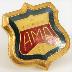 Vintage-Dorado-Ama-American-Moto-Asociacion-Membership-Boton-Pines