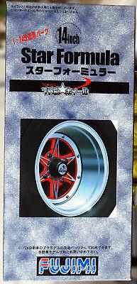 Reifen 1:24 # 40 Fujimi 193090 Felgen Star Formula 14 Zoll inkl
