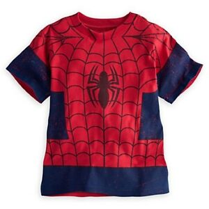 NWT Disney Store Superhero Marvel Spider-Man Costume Tees T-Shirt Shirt 5 6 7 8 - eBay