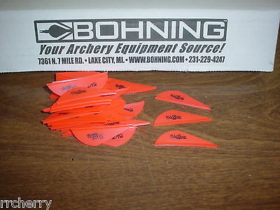 """2019 Bohning 2"""" Blazer Vanes Neon Red For Archery Bow Hunting Arrows 100 Pk"""