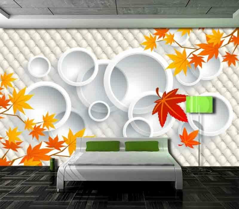 Modern Maple Leaf 3D Full Wall Mural Photo Wallpaper Printing Home Kids Decora