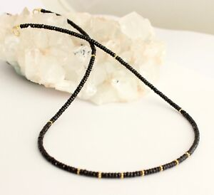 Spinel Necklace Precious Stone 925Silber Black Spinel Spinels Necklace New
