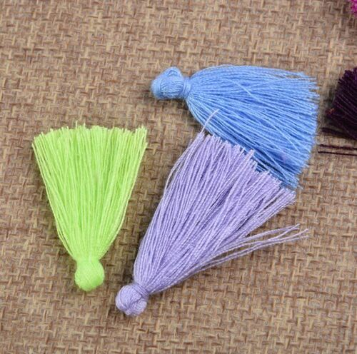 100pcs Muti color Small Cotton Thread Tassel Charm Pendant Tassels Jewelry 30mm