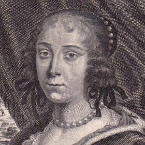 Portrait-XVIIe-Eleonore-Febronie-de-Wassemaer-de-Bergh-Fronde-Moncornet