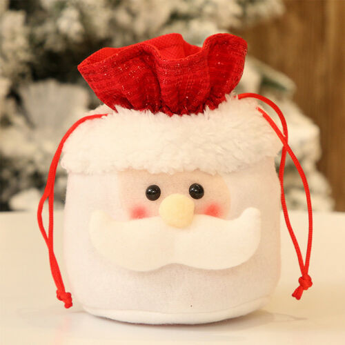 1//2PCS Christmas Kids Gift Candy Bags Santa Claus Snowman Elk Storage Xmas Decor