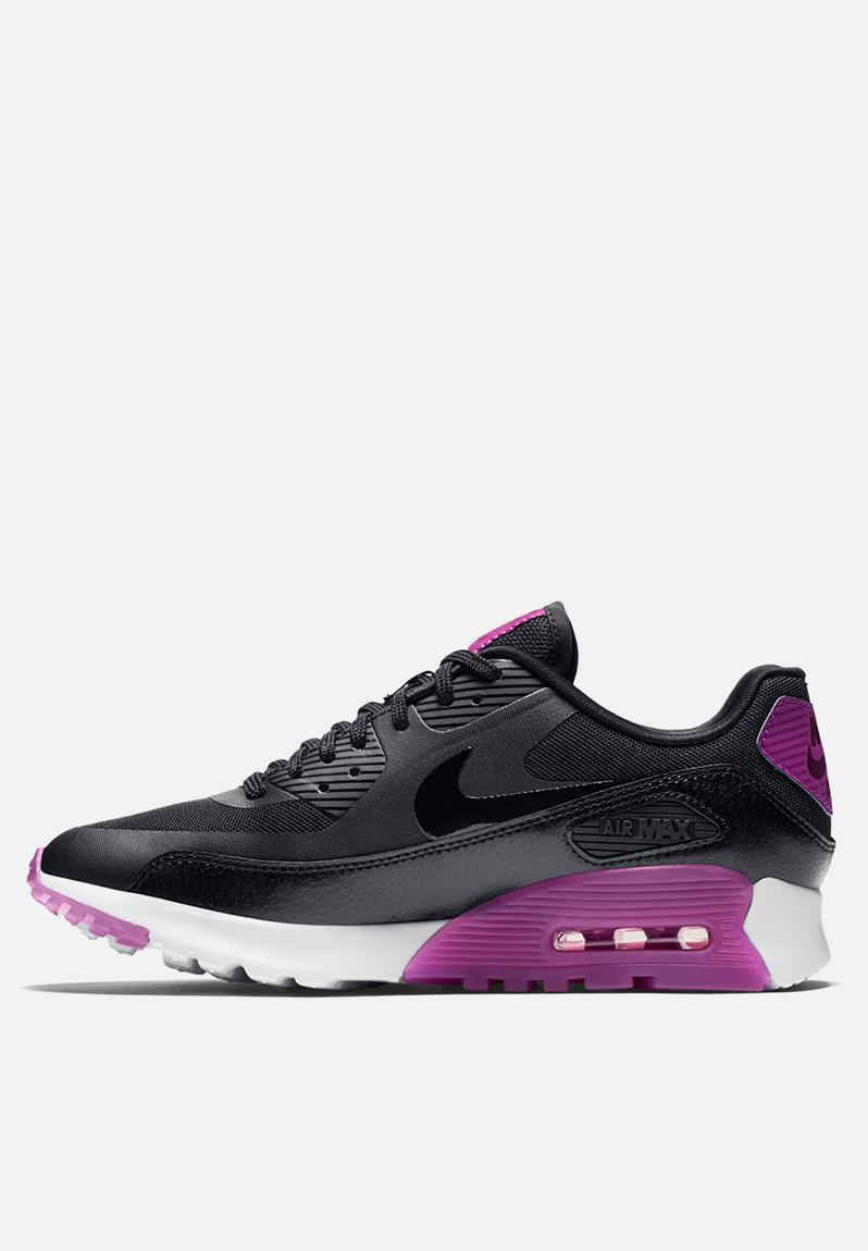 Nike Air Max 90 Ultra Essential Black Purple 724981 003 Womens Sz 7.5
