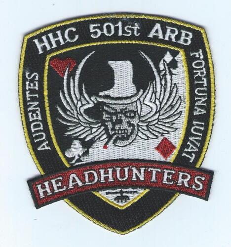 "HHC 501st ARB /""HEADHUNTERS/""  patch"