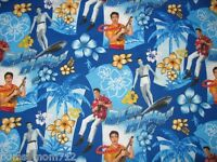 2 Pc Set - Elvis Presley Tropical Blue Hawaii Hibiscus Accent Pillow Sham Cover