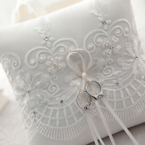 UK-Stock-Ivory-Lace-Ring-Pillow-Wedding-Ring-Bearer-Cushion-Engagement-Party0411