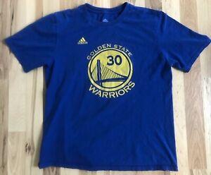 zakupy Data wydania: 2018 buty Details about Adidas Stephen Curry Golden State Warriors NBA Blue T Shirt  YOUTH Boys Girls XL