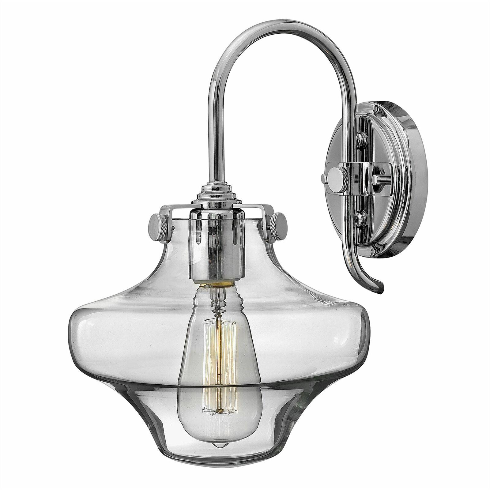 Hinkley Lighting - Congress 1 Light Clear Glass Wall Light - Chrome