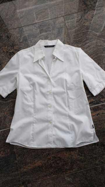 ETERNA Excellent Damen Kurzarm Bluse Gr.38 in Weiß neuw.