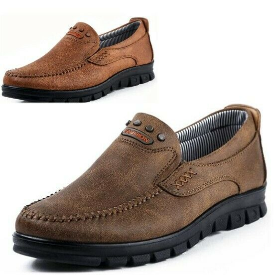Mens Skid Resistance Slip On Moccasin Loafers Soft Footbed Casual Driving shoes
