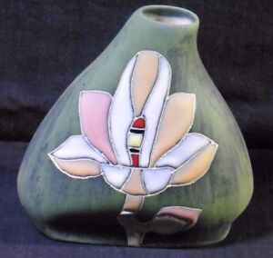Stoneware-Vase-Matt-finish-with-glazing-Small-Unknown-origin
