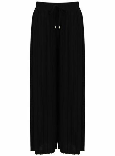 Women Ladies Palazzo Plain Flared Wide Leg Pants leggings Baggy Trousers