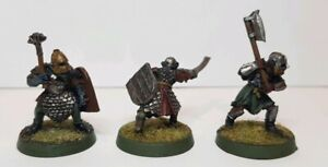 Lord-of-the-Rings-2nd-Age-Mordor-Orc-Warriors-x-3-well-painted-metal-models-LOTR