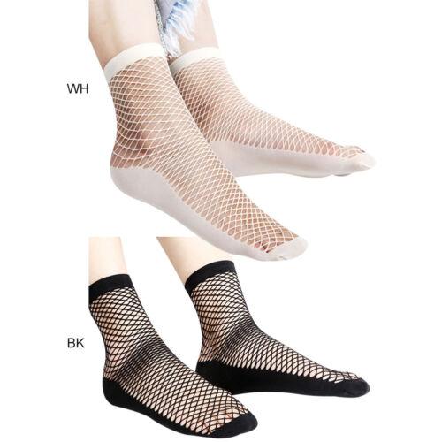 3//6 Pairs Women Deodorant Fishnet Socks Thin Ankle High Girls Silk Short Sock UK