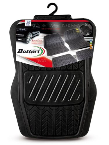 Bottari 14041 Set Tappeti Auto in Gomma Universali 4 pezzi SAGOMABILI