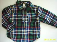 Gymboree North Pole Express Plaid Flannel Shirt Shacket Jacket 2t