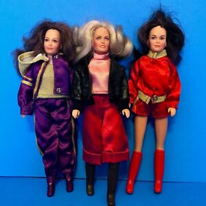 Vintage-1970s-Charlie-039-s-Angels-Action-Figure-3-Dolls-Farrah-Jaclyn-Kate-OUTFITS