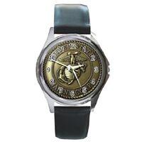 Gift Watch - Custom United States Marine Corps Round Metal Watch