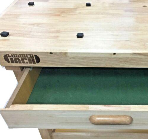 Lumberjack Work Bench 2 tiroirs Heavy Duty en bois massif table /& Woodworking Vice