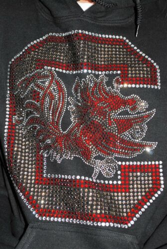 South Carolina Gamecocks rhinestone hooded sweatshirt S M L XL 2X 3X 4X5X hoodi