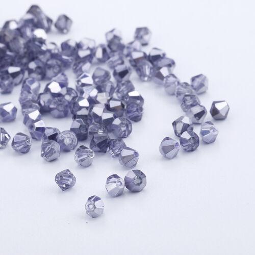 À faire soi-même Fashion Jewelry 1000pcs Austria Crystal 3 mm Bobine biconique Perles #5301 U Pick colors