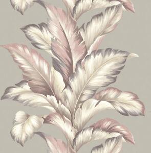 Papier Peint Designtapete Motif Feuilles Floral Scintillant Gris Poudre Pour Assurer Une Transmission En Douceur